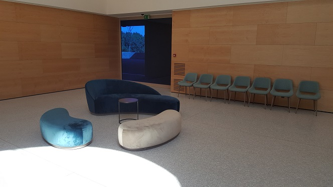 Eigentijdse wachtzaal - aula Daelhof
