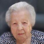 Augusta Van de Velde geboren te Okegem op 9 juli 1921 overleden te Roosdaal op 6 april 2021